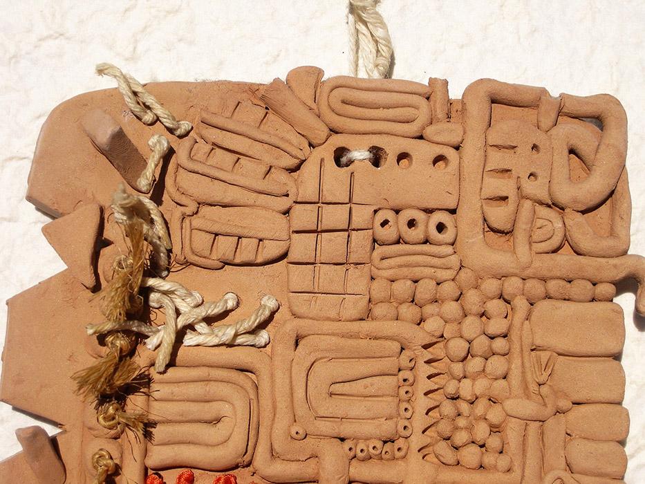 Ceramiche artistiche Accordi di Pace dettaglio