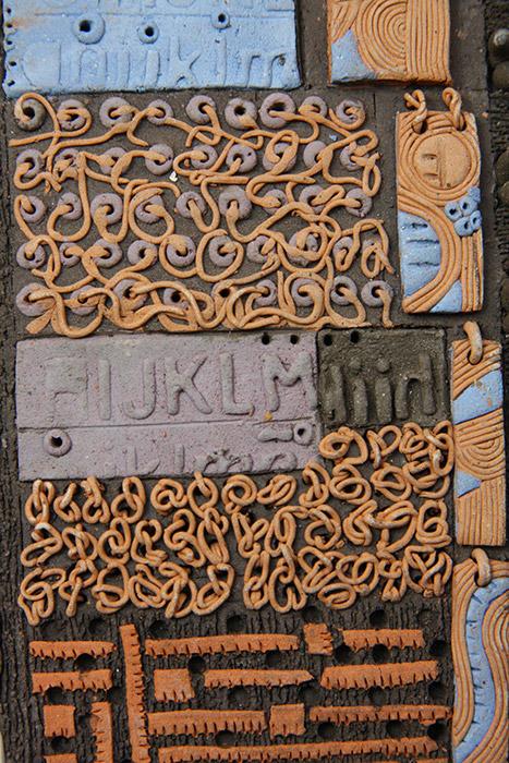 Ceramiche artistiche Codici Ritrovati dettaglio