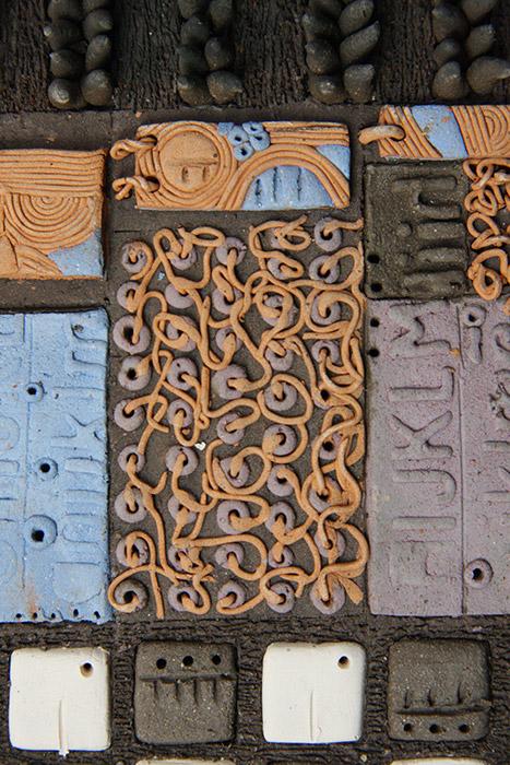 Ceramiche artistiche Codici Ritrovati dettaglio 2