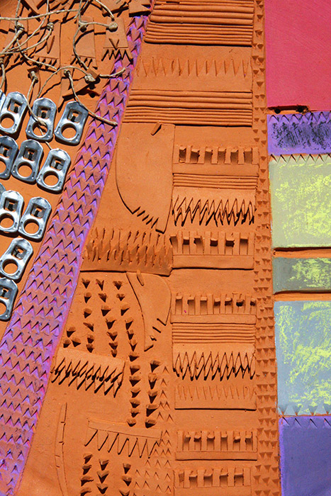 Ceramiche Artistiche Nascita di una città dettaglio