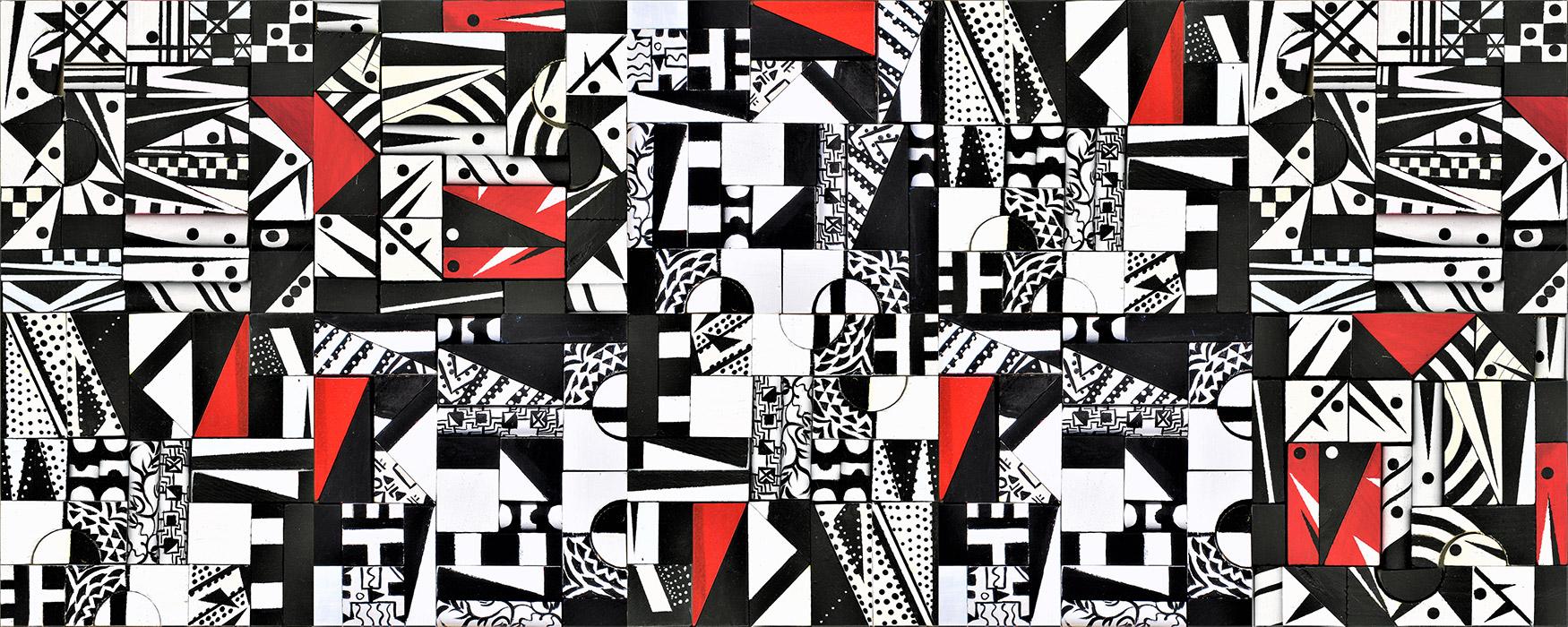 Scatole Creative pannello bianco e nero 70x28