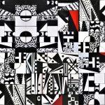 Scatole creative assemblate pannello bianco e nero
