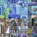 Scatole Creative Testiera azzurra 60x150